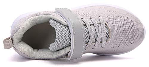 Pictures of Boy's Girl's Lightweight Walking Sneakers Gray1 4.5 M US Big Kid 4