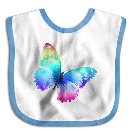 Butterfly Clipart - Multi Color Butterfly Clipart Toddler Newborn Baby Boys Girls Skin-Friendly Saliva Towel Waterproof Baby Bibs