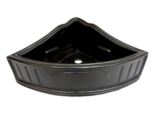 Art in Sink 7CB10/1016 Barthroom Corner Wall Basket Ceramic 10-1/2'' Shower, Satin Black by Art in Sink