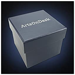 ArtsOnDesk Modern Art Paperweight St206 Stainless Steel Satin Finish Luxury Desktop Home Office Supply Desk Accessory Organizer Holder Holiday Wedding Graduation Corporate Christmas Gift Present
