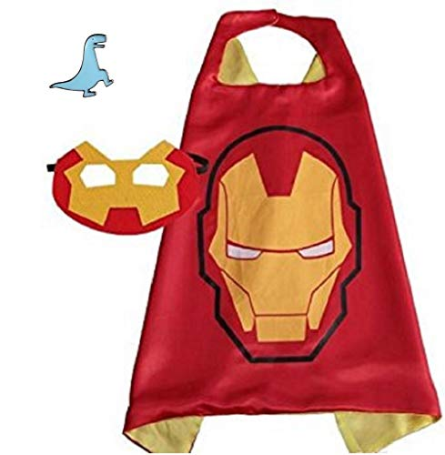 Superhero Cape and Mask Costume for Kids with Pin (Iron -
