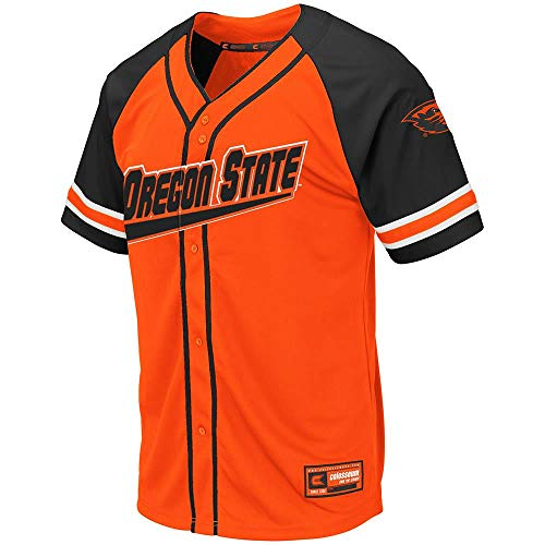 Colosseum Mens Oregon State Beavers Wallis Baseball Jersey - - Jerseys Oregon State