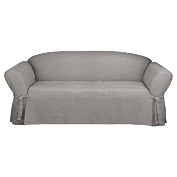Sure Fit Mason Grey Loveseat Slipcover