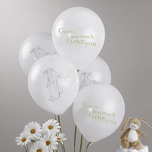 - Guess How Much I Love You Balloons. Perfect For Baby Shower, Christening, Baby Naming Or 1st Birthday Party. Pack Of 8 Balloons