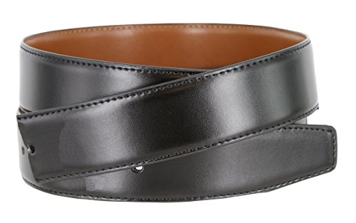 Smooth Reversible Leather Dress Casual Belt Strap for Men 1-3/8