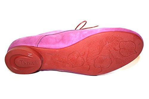 Think! - Zapatos de cordones de cuero para mujer Pink (magnolia/kombi 31)
