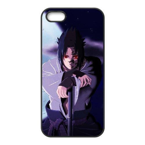 D6X80 Sasuke Uchiha M5N4JI coque iPhone 5 5s cellule de cas de téléphone couvercle coque noire SF0NOR6QU