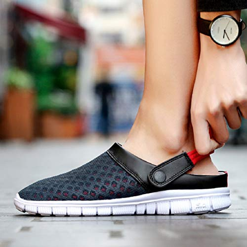 ae74cf9b4eabb Unisex Women Men Mesh Sandals Indoor/Outdoor Slipper Garden Clog Shoes by  Lowprofile Dark Blue