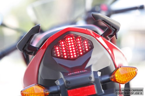 Integrated Sequential LED Tail Lights Smoke Lens for 2013-2015 Honda CBR500R CB500X CB500F