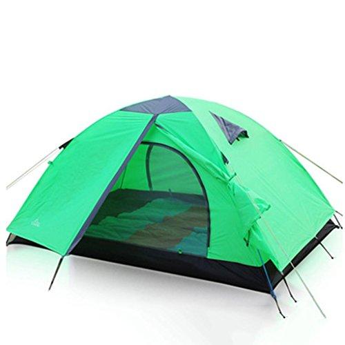 Double tente extérieure Tente de camping anti-pluie Tente de pliage en tôle d'aluminium