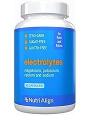 Keto Electrolytes Capsules: Magnesium, Potassium, Calcium, Sodium. for Healthy Electrolyte Balance and Smooth Adaptation to Ketosis. Sugar-Free, Zero-Carb, Gluten-Free. 90 Capsules.