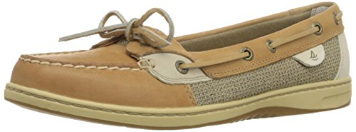 Sperry Top-Sider Women's Angelfish Boat Shoe,Linen/Oat,9.5 M US