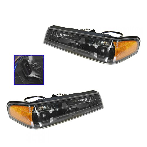 Side Marker Parking Turn Signal Corner Lights Pair Set for 04-12 Colorado Canyon