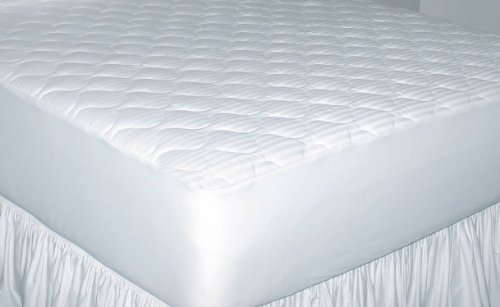 Newpoint Home Deluxe 250-Thread-Count Cotton Damask Stripe Queen Mattress - Cotton Pad Damask Mattress