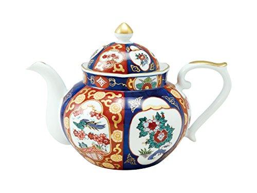 Tea pot with wooden boxOld Imari style Phoenix 45027390, Asian, Oriental, Japanese dish plates Traditional Collection/Yamashita Craft