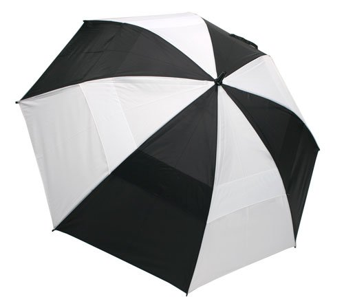 "Nylon Umbrella Windproof (ProActive Sports 62"" Wind-Cheater Vented Double Canopy Windproof Golf Umbrella (Black/White))"