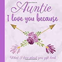 Image for Auntie I Love You Because What I love About You Gift Book: Prompted Fill-in the Blank Personalized Journal | 25 Reasons Why I Love You | Christmas, ... Present Idea (I Wrote a Book About You)