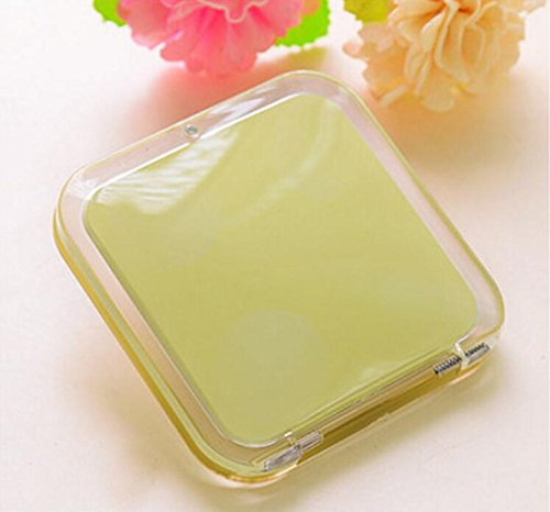 Childrens Mirror Mini Square Simple Candy Small Glass Mirrors Circles for Crafts Decoration Cosmetic Accessory Yellow by Yingealy (Image #5)