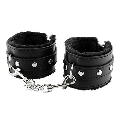 StillCool Adjustable PU Handcuffs Ankle Bracelets (Black) (Sexy Robber)