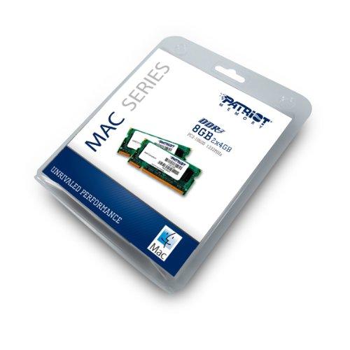 Patriot Mac Series 8GB Apple SODIMM Kit (2X4GB) DDR3 1333 PC3 10600 204-Pin SO-DIMM PSA38G1333SK by Patriot (Image #1)