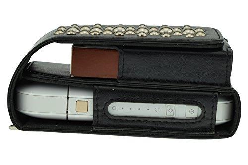German Couture GC Case für IQOS Pocket Charger, Heets aus veganen Leder mit Nieten, Design by Lifestyle and Fashion, Germany Schwarz
