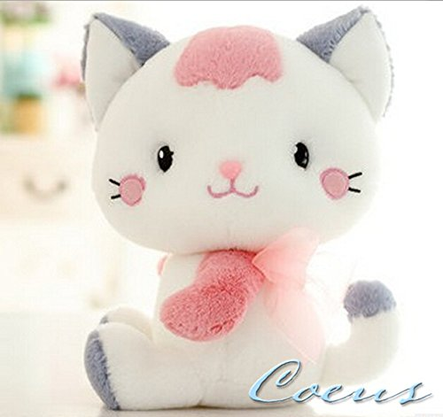 Coeus Cute & Lovely Bedtime Plush Animal /Plush Toy Soft Doll,the Best Gift for Kids/children/girlfriend, Soft Stuffed Plush Toy- Lovely Cat / Kitty,9.8 Inch / 25 Cm - Cat Kitty Sitting