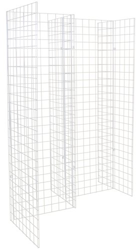 KC Store Fixtures 05315 Freestanding Grid Unit with 5 2' x 6' Panels, White by KCF