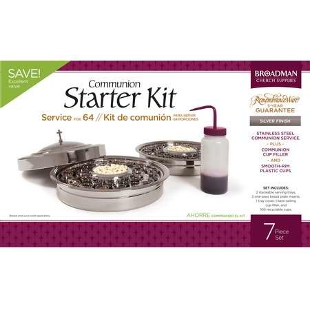 B & H Publishing Group 72628 Communion-RemembranceWare-SilverTone Communion Starter - Outlet Ga Mall