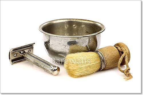 Barewalls Vintage Barberシェービングブラシ用紙印刷壁アート 36in. x Vintage 54in. 36in. 36in. x 36in. 54in. B07C464YLB, 配管サポート:29aefb50 --- capela.dominiotemporario.com