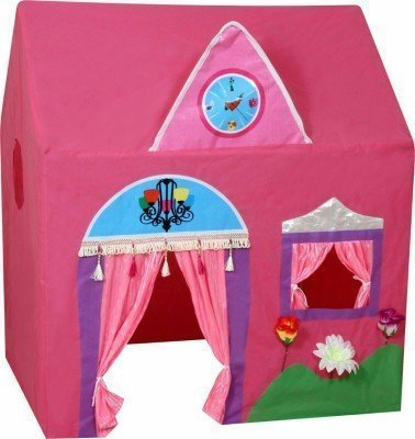BabyGo Jumbo Size Queen Palace Tent House for Kids (Baby Pink)