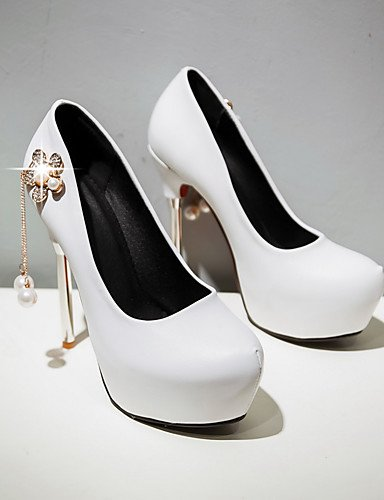 GGX/Damen Schuhe Frühling/Sommer/Herbst/Winter Heels/Plattform/Basic Pumpe/rund Toe Hochzeit/Kleid/Casual white-us5.5 / eu36 / uk3.5 / cn35