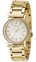DKNY Gold-tone Steel Bracelet Mother-of-Pearl Dial Women's Watch #NY4792 from DKNY