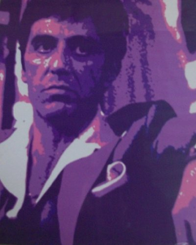 (Scarface -Al Pacino- Digital Photo/Picture/Print Pop Art)