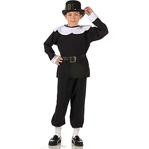 RG Costumes Pilgrim Boy Costume, Black/White, Small -