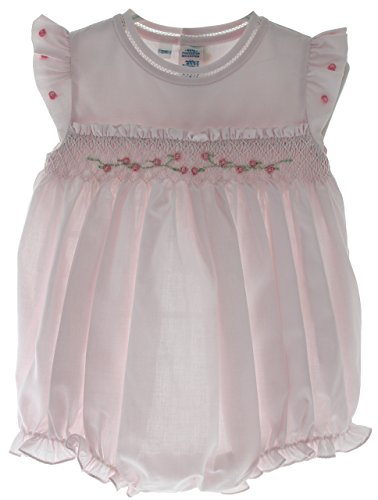 Brother Sleeveless - Infant Girls Pink Sleeveless Bubble Outfit Smocking Feltman Brothers Baby Clothes 6M