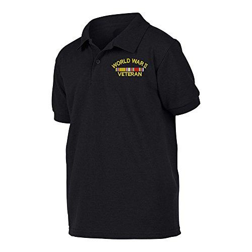 - Military World War 2 Veteran Polo Shirt Large