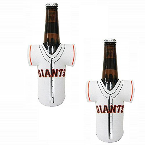 Official Major League Baseball Fan Shop Authentic MLB 2-pack Insulated Bottle Team Jersey Cooler (San Francisco Giants)