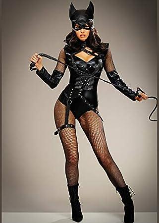 Disfraz de Catwoman Corto de Mujer para Mujer Medium (UK 10-12 ...