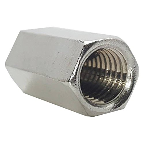 3/8-16 Rod Coupling Nuts, Stainless Steel 18-8, Plain Finish, Quantity 25 (Plain Coupler)
