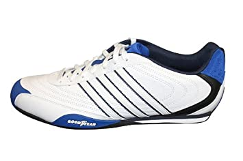 3e9a7fcae842 adidas Goodyear Street Schuhe Weiss Schwarz Blau UK 11 D 46  Amazon ...