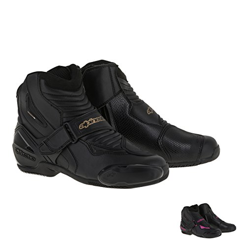 Alpinestars SMX-1R Women's Street Motorcycle Boots - Black/Gold / - 1 Shoes Smx Riding