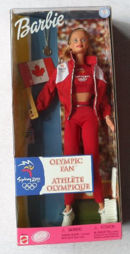 Olympic Fan Barbie Doll Sydney 2000 - Official Licensed Doll (1999 From Canada)
