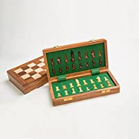 Rusticity Wooden Chess Set with Chess Board and Pieces | Handmade | (10x10 in)