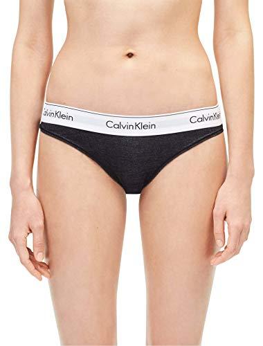 Calvin Klein Women`s Modern Cotton Bikini (Indigo Denim(QF5301-495)/White, Medium) -