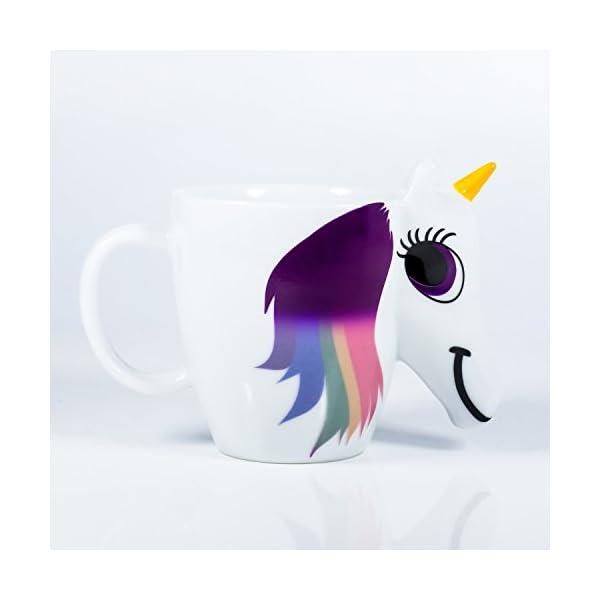 Thumbs Up UK Unicorn Color Changing 10 oz Ceramic Coffee Mug 6