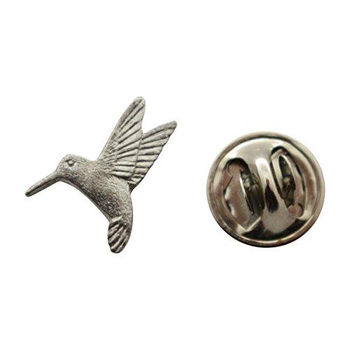 Hummingbird Mini Pin ~ Antiqued Pewter ~ Miniature Lapel Pin ~ Sarah's Treats & (Hummingbird Bird Pin)