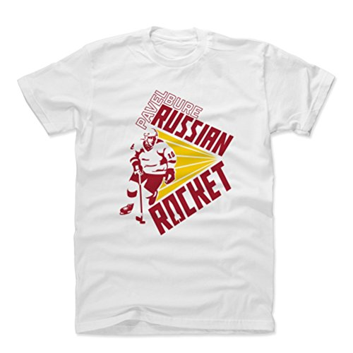 500 LEVEL Pavel Bure Cotton Shirt Medium White - Vintage Vancouver Hockey Men's Apparel - Pavel Bure Rocket RY ()