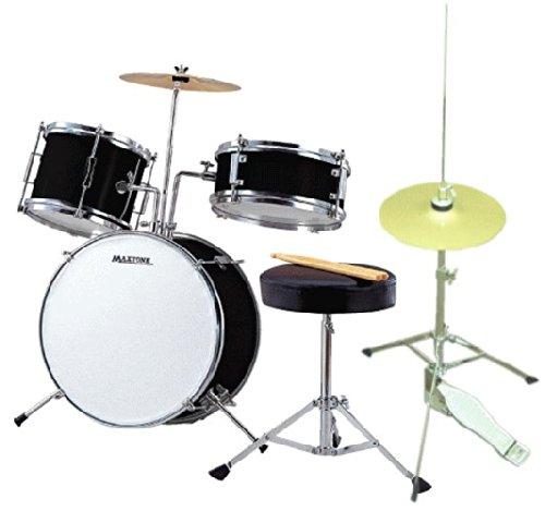 ミニドラム(ジュニアドラム)MX-50BK ハイハット、予備ヘッド付き(子供向けドラムストリートライブなどでも使える)   B00LPFZCE8