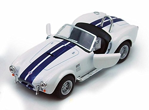 (1965 Shelby Cobra 427 S/C Convertible, White - Kinsmart 5322/4D - 1/32 scale Diecast Model Toy Car (Brand New, but NO BOX))