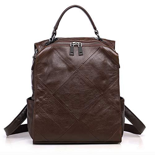 Bandoulière à Cuir Sac Sacs Sac Mode Dos Sac Main Dos Brown Sac à A Bag Epaule Porté Sac Cartable 13 25 Femme Travel à 26cm tIOqU